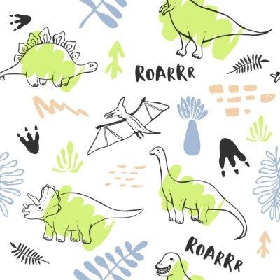 Fototapeta Wzór z słodkie dinozaury dla dzieci włókienniczych, tapety, plakaty i inne projekty