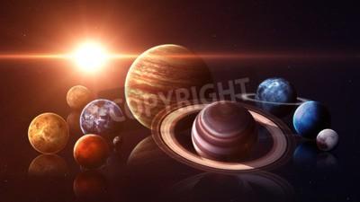 Fototapeta Wzrost jakości planet układu słonecznego.