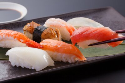 Fototapeta に ぎ り 寿司 の 盛 合 わ せ