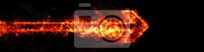 Fototapeta 炎 に 包 ま れ た 矢