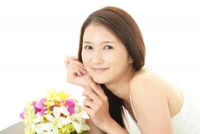 Fototapeta 寛 ぐ 美 し い 女性