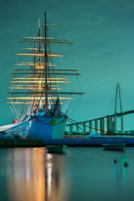 Fototapeta 海王 丸 の 夜景