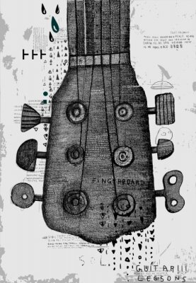 Fototapeta Гриф от гитары