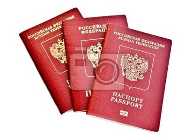 Fototapeta Три паспорта