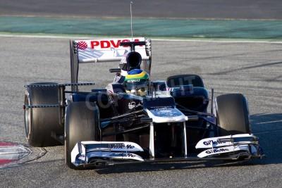 Fototapeta BARCELONA - 21 lutego 2012: Bruno Senna z Williams F1 Team podczas wyścigów Formuły Drużyny dni testów w Katalonii circuity, Barcelona, Hiszpania.