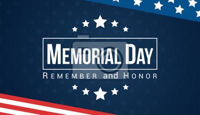 Fototapeta Dzień Pamięci - Pamiętaj i honoruj z flagą USA, ilustracji wektorowych.