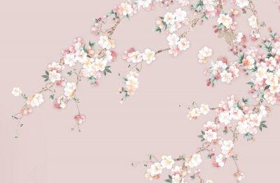 Fototapeta Flower,Watercolor flowers, suitable for wallpaper design