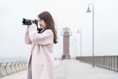 Fototapeta カメラ女子