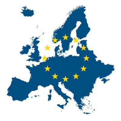 Fototapeta ヨーロッパ EU 地図 アイコン