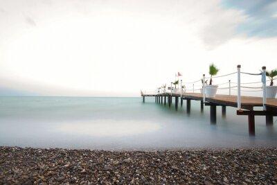 Fototapeta Steg am Meer © yvonneweis