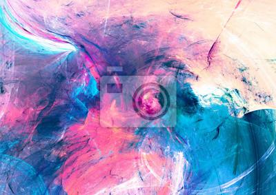 Zimny multicolor piękny futurystyczny wzór. Malarstwo abstrakcyjne jasny kolor tekstury. Jasny nowoczesny artystyczny ruch tło. Fraktalna grafika do kreatywnego projektowania graficznego