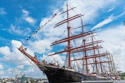 Fototapeta Yachting, yacht, rope.