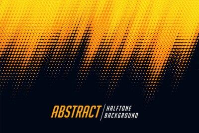 Fototapeta yellow and black diagonal halftone background