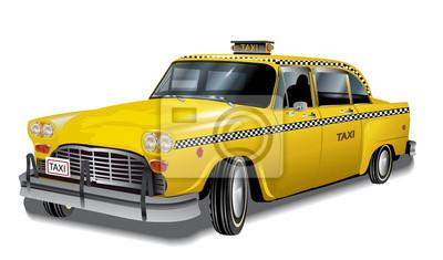 Fototapeta Yellow cab, new york taxi retro, eps10