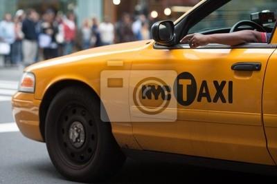 Fototapeta Yellow Cab w Nowym Jorku