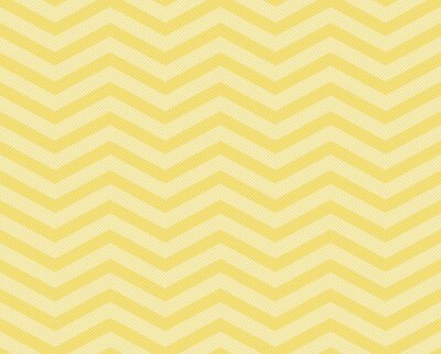 Fototapeta Yellow Chevron Zigzag Textured Fabric Pattern Background