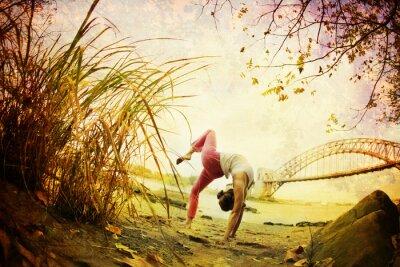 Fototapeta Yoga Photo ilustracji