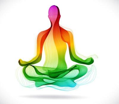 Fototapeta Yoga, streszczenie kolor tła