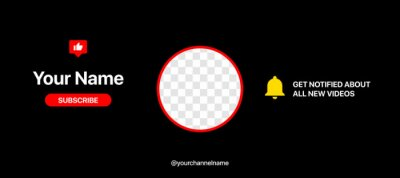 Fototapeta Youtube Channel Cover Wireframe. Youtube Banner For Design Your Channel. Put Your Content Under Background