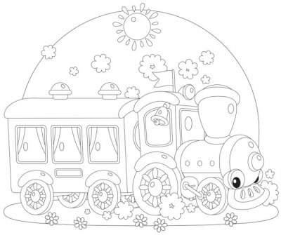 Fototapeta Zabawki pociągu