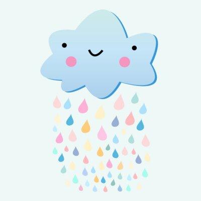 Fototapeta zabawy z chmury deszczu