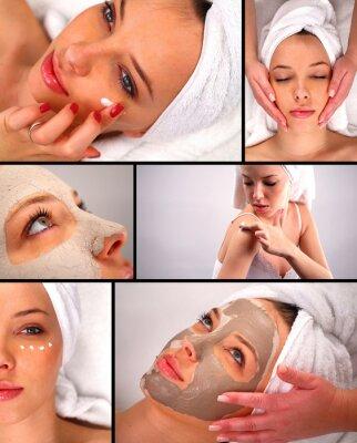 Fototapeta Zabiegi kosmetyczne collage