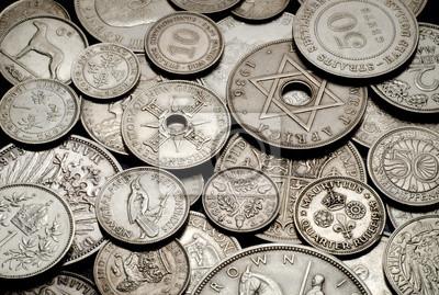 zabytkowe monety, tło