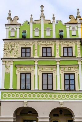 Fototapeta Zabytkowy budynek na Rynku w Zamościu, Polska