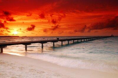 Fototapeta Zachód słońca i molo