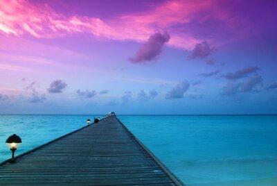 Fototapeta Zachód słońca na Malediwach