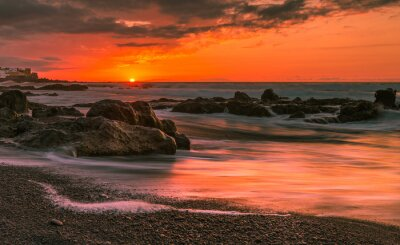 Fototapeta Zachód słońca na Teneryfie