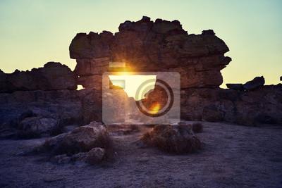 Zachód słońca nad Park Narodowy Isalo