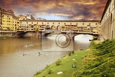 Fototapeta Zachód słońca nad Ponte Vecchio