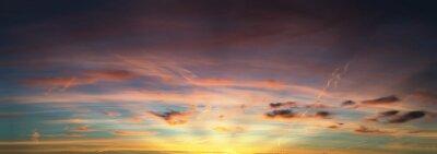 Fototapeta zachód słońca niebo panorama