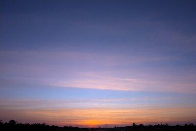 zachód słońca tle nieba