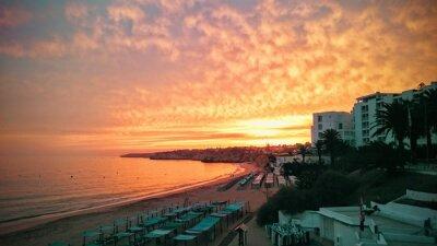 Fototapeta Zachód słońca w Algarve w Portugalii