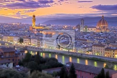 Fototapeta Zachód słońca w Florencja