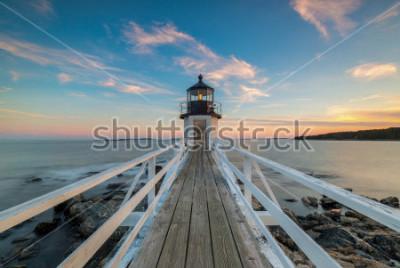 Fototapeta Zachód słońca w Marshall Point Lighthouse