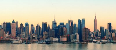 Zachód słońca w Nowym Jorku