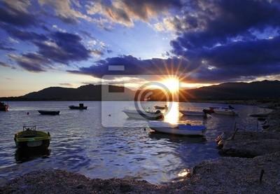 Fototapeta Zachód słońca w porcie