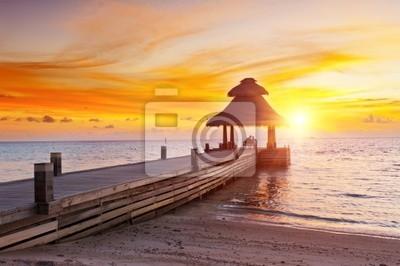 Fototapeta Zachód słońca w raju