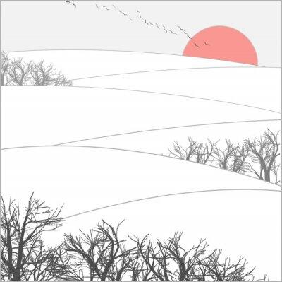 Fototapeta zachód słońca zima motyw w literaturze pięknej
