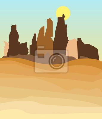 Zachodnia pustynia w stylu amerykańskim