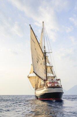 Fototapeta Żaglówka na Morzu Śródziemnym