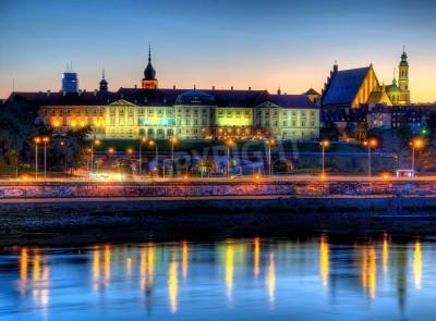 Fototapeta Zamek Królewski w Warszawie w nocy