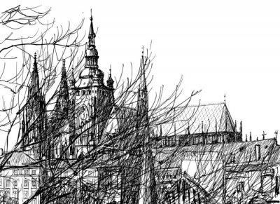 Fototapeta Zamek Praski przepiękne architektoniczne dzieło
