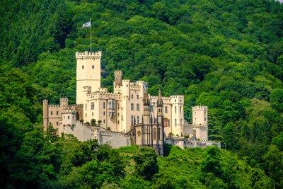 Fototapeta Zamek Stolzenfels w Dolinie Renu w pobliżu Koblenz, Niemcy.