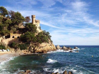 Fototapeta Zamek w Lloret de Mar w Girona, Hiszpania