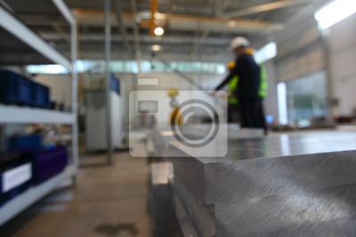 Fototapeta Zapasy aluminium w fabryce