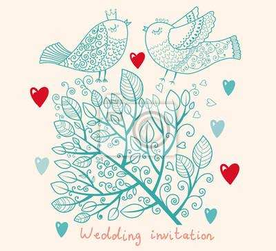 Zaproszenie na ślub. Wzór Flower